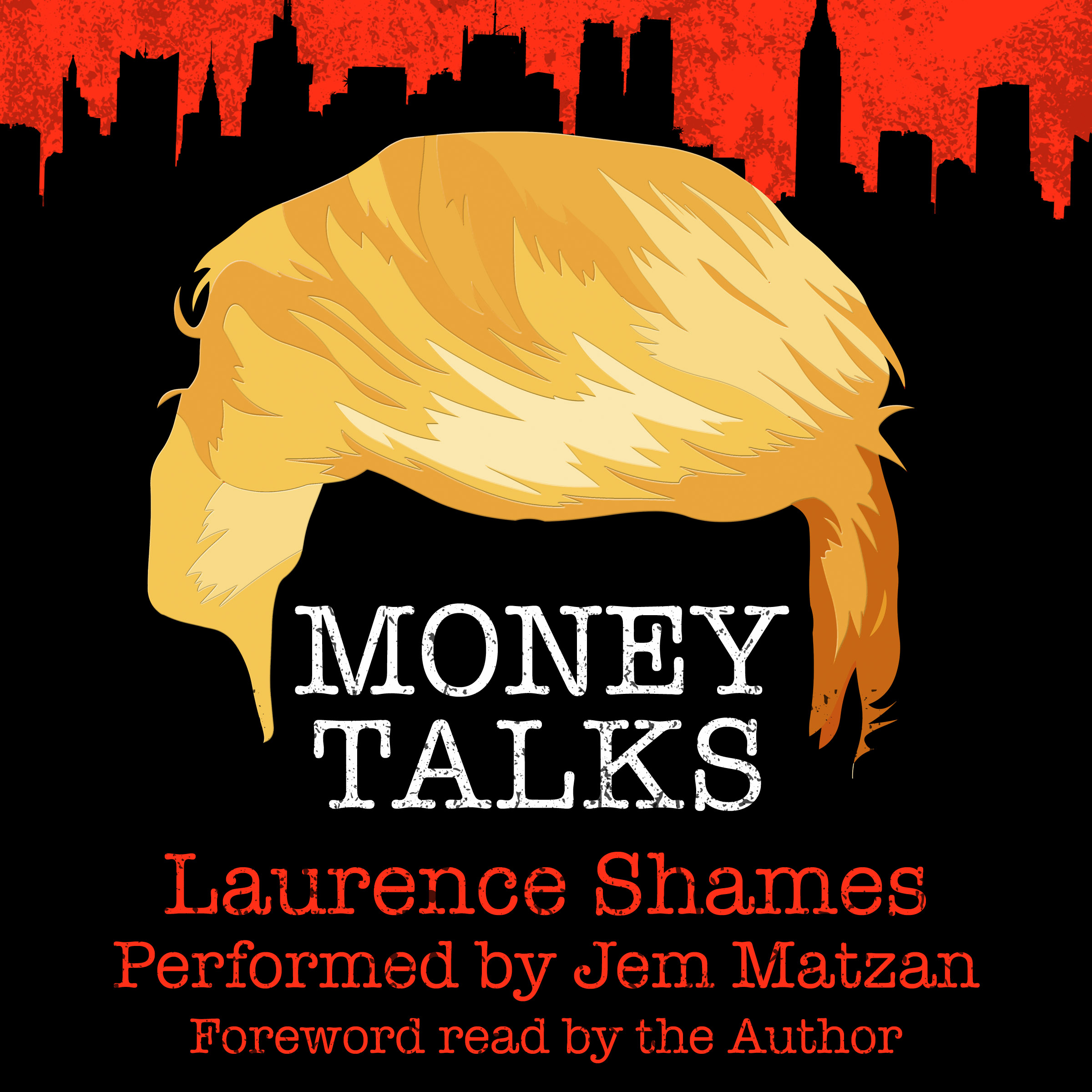 Money Talks Trump murder mystery novel audiobook cover art