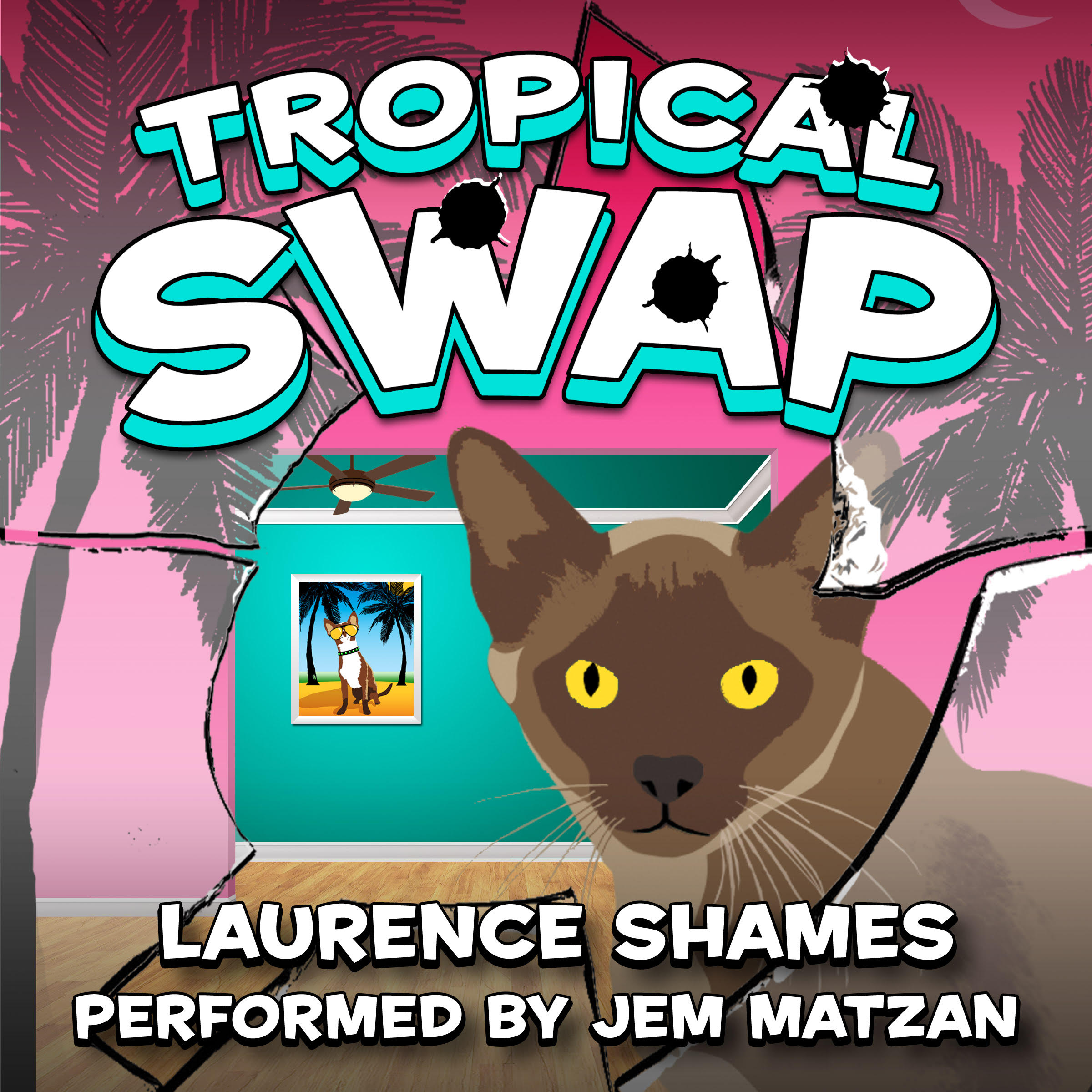 Tropical Swap florida fiction audiobook cover art